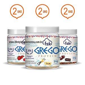 Combo 6 Potinhos Grego Protein 30g - Forseek
