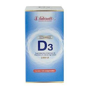 Vitamina D3 (2000 ui) 120 Comprimidos - Naturalis