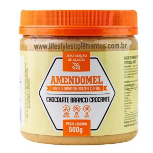 AmendoMel Chocolate Branco Crocante 500g - Thiani Alimentos