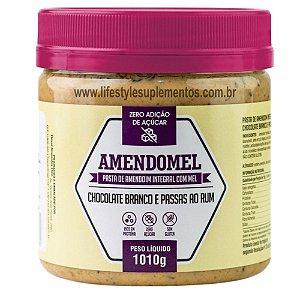 AmendoMel Chocolate Branco e Passas ao Rum 1Kg - Thiani Alimentos