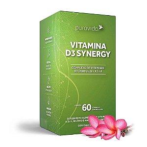 Vitamina D3 Synergy 60 Cápsulas - Pura Vida
