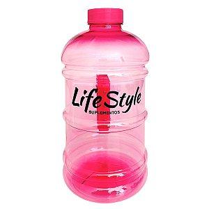 Galão 2 Litros Rosa - Life Style Suplementos