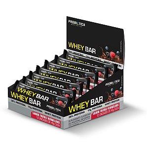 Whey Bar Frutas Vermelhas 12 Unidades - Probiotica