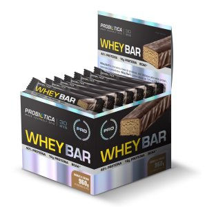 Whey Bar Cookies & Cream 24 Unidades - Probiotica