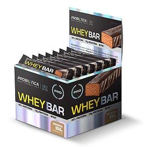 Whey Bar Amendoim 24 Unidades - Probiotica