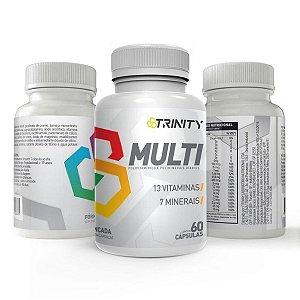 Kit 3 Potes Multi - Multivitaminico 60 Capsulas - Trinity