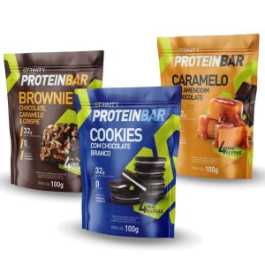 Kit 3 Packs Protein Bar Sabores Variados - Trinity