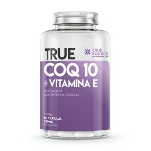 True Coq10 Com Vitamina E 650mg 60 Cápsulas - True Source