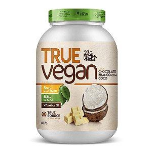 True Vegan Chocolate Branco Com Coco 837G - True Source