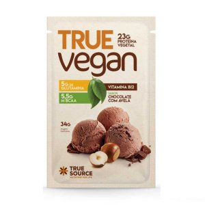 True Vegan Chocolate Com Avelã Sachê 32g  - True Source