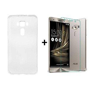 Capa + Película Gel Cobre 100% Asus Zenfone 3 Zoom Ze553kl