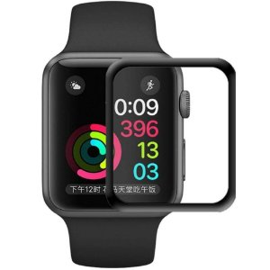Película protetora para Apple Watch de 42mm com bordas pretas