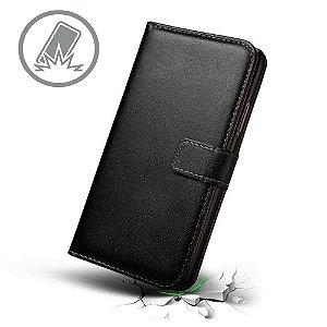 Capa carteira preta para Samsung J6+ PLUS