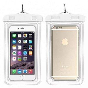 Capa para celular impermeável para celular até 6.3 polegadas - Branco