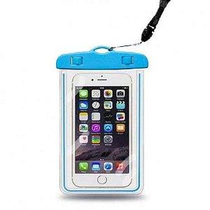 Capa para celular impermeável para celular até 6.3 polegadas - Azul
