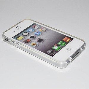 Capa (Capinha) em silicone transparente para iPhone 4G