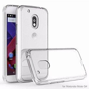 Capa (Capinha) em silicone transparente para Moto G4 Normal 5.5