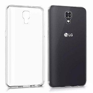 Capa (Capinha) em silicone transparente para LG X SCREEN