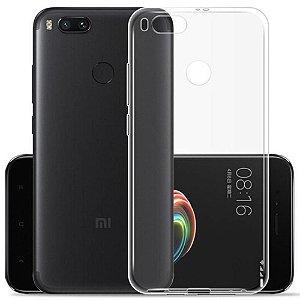 Capa (Capinha) em silicone transparente para Xiaomi MIA1