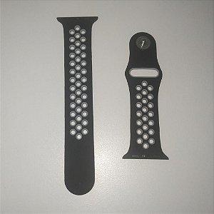Pulseira para relógio AppleWatch Tamanho 38MM ou 40MM - PRETO e CINZA