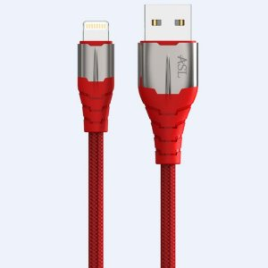 Cabo USB LIGHTNING 1.2 Metro Reforçado Vermelho CZ103L