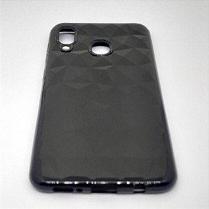 Capa para Samsung A20 ou A30 - Texturizada Preto