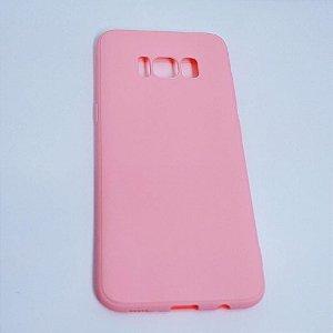 Capinha flexível colorida para Samsung S8 - Rosa