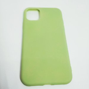 Capinha flexível colorida para iPhone 11 - Abacate