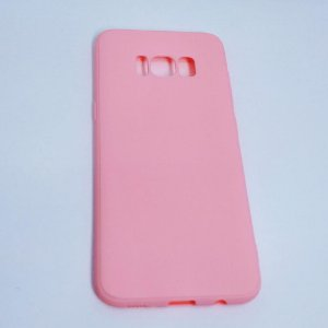 Capinha flexível colorida para Samsung S8 Plus - Rosa