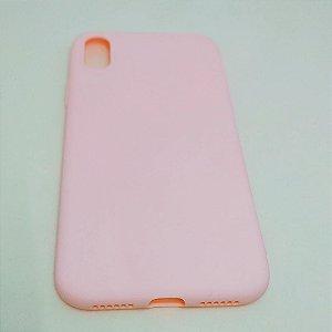 Capa flexível colorida para iPhone X - Rosa