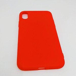 Capa flexível colorida para iPhone X - Vermelho