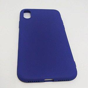 Capa flexível colorida para iPhone X - Azul Marinho