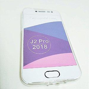 Capinha 360º Frente + Verso para Samsung J2 PRO - Transparente