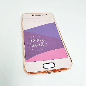 Capinha 360º Frente + Verso para Samsung J2 PRO - Avermelhado
