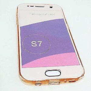 Capinha 360º Frente + Verso para Samsung S7 NORMAL - Avermelhado