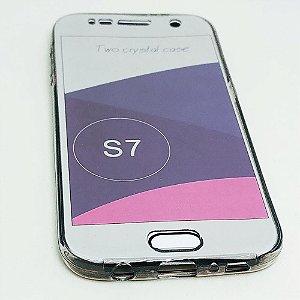 Capinha 360º Frente + Verso para Samsung S7 NORMAL - Fumê Claro