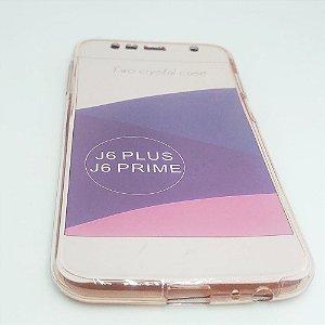 Capinha 360º Frente + Verso para Samsung J6 PLUS - Avermelhado