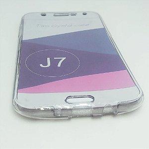 Capinha 360º Frente + Verso para Samsung J7 NORMAL (Antigo) - Fumê Claro