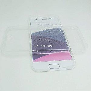 Capinha 360º Frente + Verso para Samsung J5 PRIME - Transparente