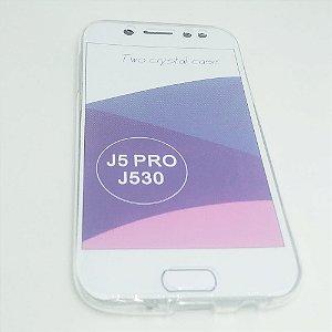 Capinha 360º Frente + Verso para Samsung J5 PRO - Transparente