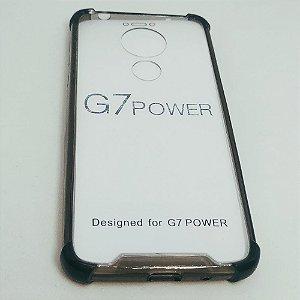 Capinha Acrílica com borda para Moto G7 POWER - Fumê Claro