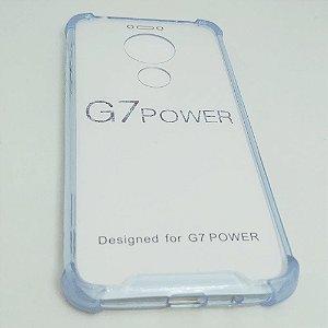 Capinha Acrílica com borda para Moto G7 POWER - Azul