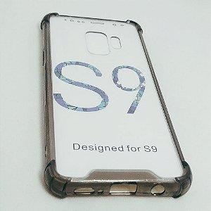Capinha Acrílica com borda para Samsung S9 NORMAL - Fumê claro
