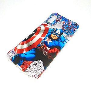 Capa para celular do Samsung A20 / A30 - Capitão América