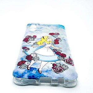 Capinha para Samsung A20 / A30 - Alice com Flores Azul