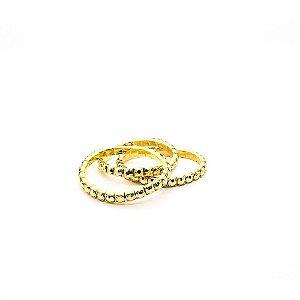 Pulseira feminina dourada - Trigêmeos ajustáveis