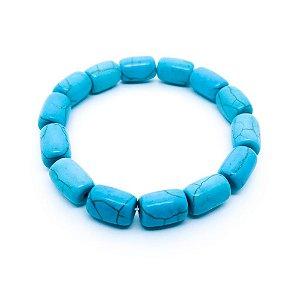 Pulseira feminina - Pedras Azuis (bastão)