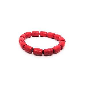 Pulseira feminina - Pedras Vermelhas