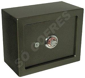 Cofre Mecânico MEC 15 - Segredo e Chave - A 24,5 X L 30,5 X P 15 - para Fixar