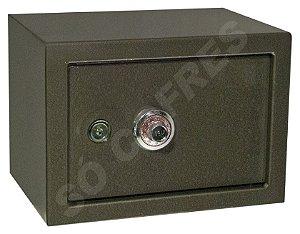 Cofre Mecânico MEC 25 - Segredo e Chave - A 25 X L 35 X P 25 - para Fixar